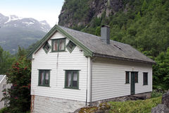 Village Geiranger, Geiranger fjord, Norway. Royalty Free Stock Image