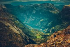 Village of Geiranger Norway Stock Photography