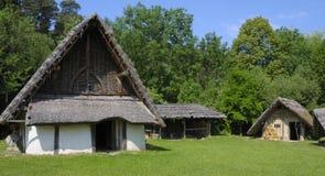 Village germanique historique photographie stock