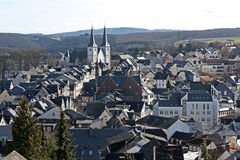 Village in Germany. Aerial view of Montabaur. A beautiful german Village stock photography