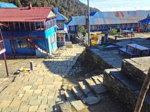 Village Ghorepani near Poon Hill royalty free stock photography