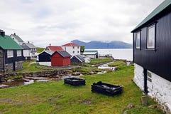 Village of Gjogv on the Faroe Islands Royalty Free Stock Photos