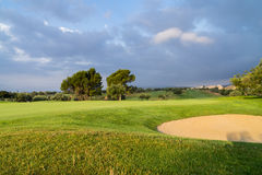 Village Golf Panoramica, Spain. Village Golf Panoramica, Golf Course in the Sun Royalty Free Stock Photo
