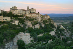The village of Gordes. In the Luberon District of Provence, France is one the most beautiful villages in France Royalty Free Stock Photos