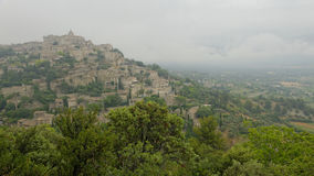 Village of Gordes in fog Royalty Free Stock Photography