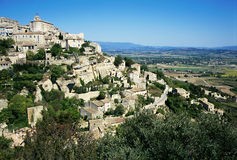 Village of Gordes, France. Overview of the village of Gordes in Luberon; one of the most beautiful villages in France Stock Photos