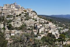 Gordes in Luberon Regional Park. The village of Gordes in Luberon Regional Park is famous Royalty Free Stock Photography