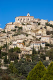 Village Gordes on the top of hill Royalty Free Stock Image