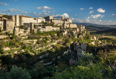 Village Gordes on the top of hill Stock Photos