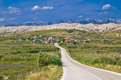 Village Gorica, Island of Pag Stock Images