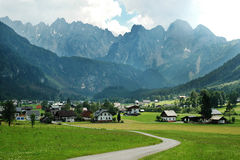 Village of Gosau Stock Photography