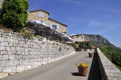 Village of Gourdon in France Stock Images