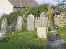Village graveyard. Old headstones in a Dorset village royalty free stock photography