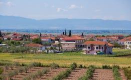 Village grec Image libre de droits