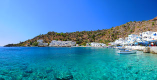Village grec de Loutro, Crète Photo stock