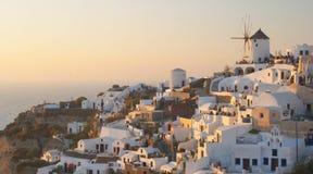 Village grec traditionnel, Oia, Santorini 2 images libres de droits