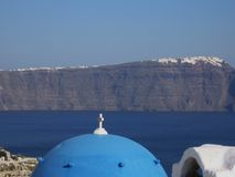 Village of Greece. From an island to the same island santorin Royalty Free Stock Photography