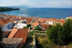 Village at Greek coast Stock Photo