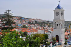 Village on greek island samos Stock Photos