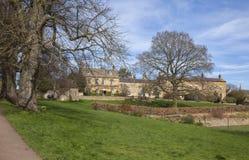 Village Green in Blockley, Gloucestershire stock afbeeldingen