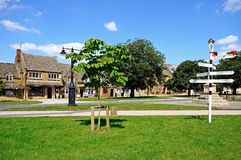 Village green, Broadway. Royalty Free Stock Image