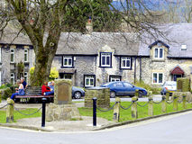 Village green Castleton, Derbyshire . Royalty Free Stock Images
