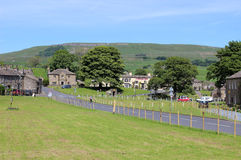 Village green and main road Bainbridge Yorkshire Royalty Free Stock Photography
