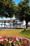 Village green and pub, Evesham. Stock Images