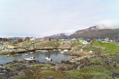 Village in Greenland Royalty Free Stock Photography