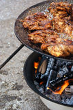 Village Grilling Royalty Free Stock Photography