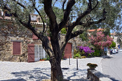 Village of Grimaud in France Stock Photo