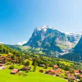 Village of Grindelwald Royalty Free Stock Photo