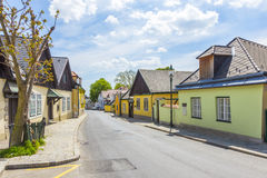 Village of Grinzing in vienna in early morning light Royalty Free Stock Photography