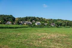The village Gross Zicker on Ruegen in Germany.  stock images