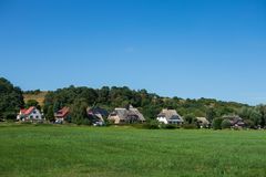 The village Gross Zicker on Ruegen in Germany.  royalty free stock images