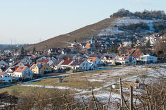 Village Grunbach in Germany with vineyard Stock Photography