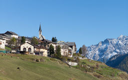 Village of Guarda in Engadin Stock Images