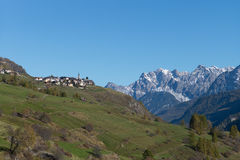 Village Guarda in Swiss Alps Royalty Free Stock Image