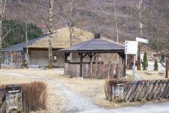 Village of Gudvangen. A house  is in national traditions Stock Images