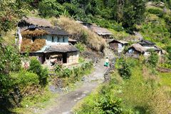 Village in guerrilla trek - western Nepal Stock Photography