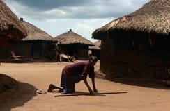 A village in Gulu in Uganda. Stock Images