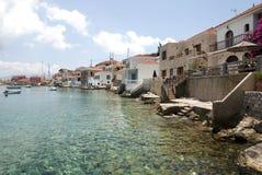 Village in Halki island Royalty Free Stock Photography