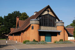 Village Hall, Hartley Wintney. The Victorian village hall built over 100 years ago in the Hampshire village of Hartley Wintney Stock Photo