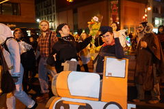 The 2015 Village Halloween Parade Part 4 17. New York's Village Halloween Parade is an annual holiday parade and street pageant presented on the night of every Stock Photos
