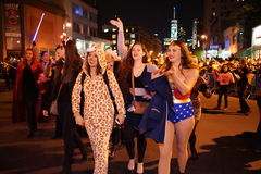 The 2015 Village Halloween Parade Part 4 18. New York's Village Halloween Parade is an annual holiday parade and street pageant presented on the night of every Stock Images