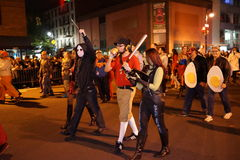 The 2015 Village Halloween Parade Part 4 23. New York's Village Halloween Parade is an annual holiday parade and street pageant presented on the night of every Royalty Free Stock Photo