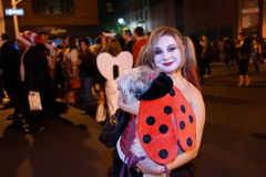 The 2015 Village Halloween Parade Part 4 25. New York's Village Halloween Parade is an annual holiday parade and street pageant presented on the night of every Stock Photography