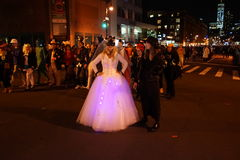 The 2015 Village Halloween Parade Part 4 31. New York's Village Halloween Parade is an annual holiday parade and street pageant presented on the night of every Royalty Free Stock Photo