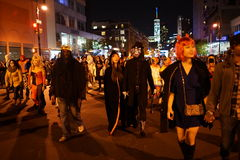 The 2015 Village Halloween Parade Part 4 49. New York's Village Halloween Parade is an annual holiday parade and street pageant presented on the night of every Stock Photography