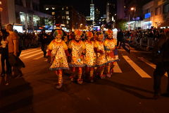 The 2015 Village Halloween Parade Part 4 54. New York's Village Halloween Parade is an annual holiday parade and street pageant presented on the night of every Royalty Free Stock Photography